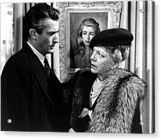 The Paradine Case, From Left, Gregory Acrylic Print by Everett