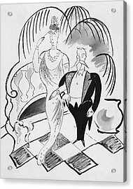 The Parents Of A Debutante At Her Coming Acrylic Print by Cecil Beaton
