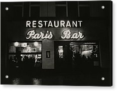 The Paris Bar Acrylic Print by Dominique Nabokov