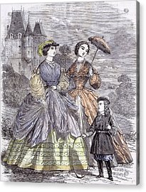 The Paris Fashions For June Child 1860  Parasol Full Acrylic Print by English School
