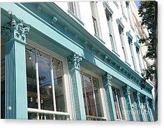 The Paris Market - Savannah Georgia Paris Market - Paris Macaron Shop - Parisian Shop Architecture Acrylic Print by Kathy Fornal