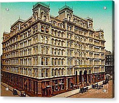 The Park Avenue Hotel In New York City In 1910 Acrylic Print by Dwight Goss