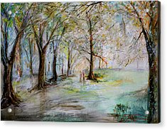 The Park Bench Acrylic Print