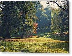The Park In Autumn Acrylic Print