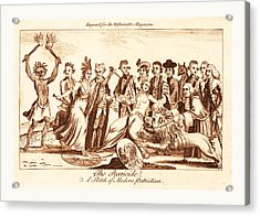 The Parricide A Sketch Of Modern Patriotism, En Sanguine Acrylic Print
