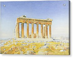 The Parthenon Acrylic Print by Thomas Hartley Cromek