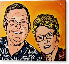 The Party Parents Acrylic Print by Nevets Killjoy