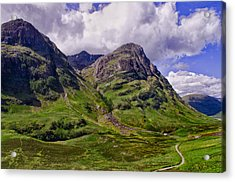 The Pass Of Glencoe Acrylic Print by Jacqi Elmslie