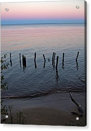 The Pastel Palette Of Whitefish Bay Acrylic Print