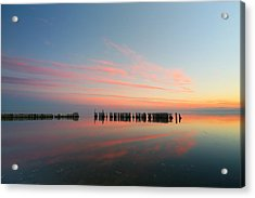 The Pastel Sea Acrylic Print by Larry Marshall