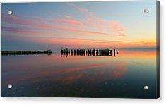 The Pastel Sea - Panorama  Acrylic Print by Larry Marshall