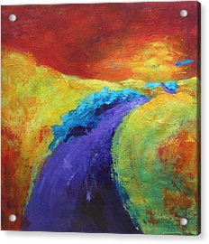 The Path Continues Acrylic Print by Valerie Greene