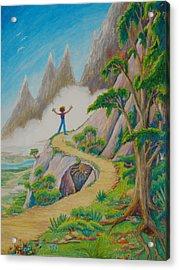 Acrylic Print featuring the painting The Path by Matt Konar