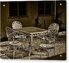 The Patio Acrylic Print by Camille Lopez