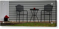 The Patio In Living Color Acrylic Print by Rob Hans