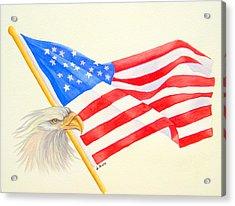 The Patriot Acrylic Print by Julia Rietz
