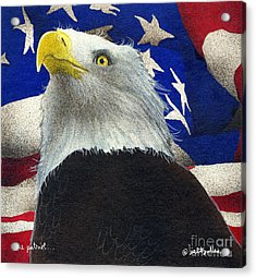 The Patriot... Acrylic Print by Will Bullas