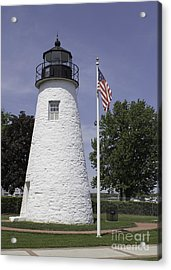 The Patriotic Lighthouse At Concord Point Acrylic Print