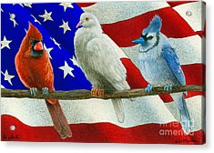 The Patriots... Acrylic Print by Will Bullas