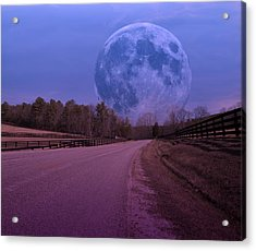 The Peace Moon  Acrylic Print by Betsy Knapp