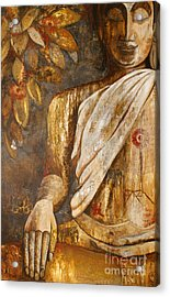 The Peace Of The Buddha Acrylic Print by Paulina Garoa