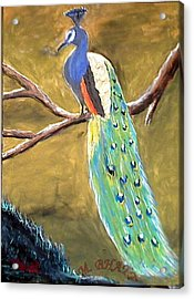 The Peacock-2 Acrylic Print by M bhatt