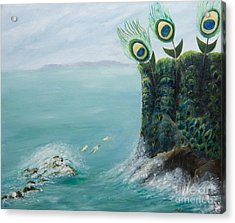 The Peacock Cliffs Acrylic Print