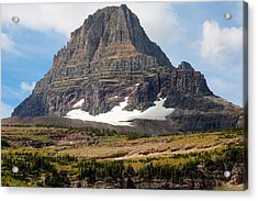 Acrylic Print featuring the photograph The Peak At Logans Pass by John M Bailey