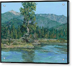 The Peak From Johnson Creek Acrylic Print by Diana Moses Botkin