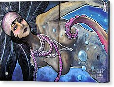 The Pearl Mermaid Acrylic Print by Colleen Kammerer