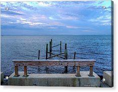 The Pier That Once Was Acrylic Print by Maurice Smith