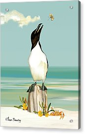 The Penguin Has Landed Acrylic Print