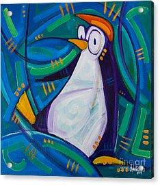 The Penguin Acrylic Print by Michael Ciccotello
