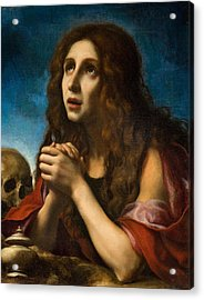 The Penitent Magdalen Acrylic Print by Carlo Dolci