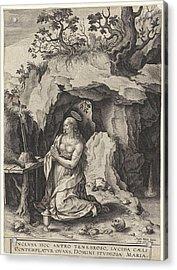 The Penitent Mary Magdalene, Antonie Wierix II Acrylic Print