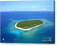 The Perfect Island Acrylic Print by Lars Ruecker