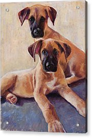The Perfect Pair Acrylic Print by Billie Colson