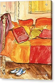 Acrylic Print featuring the painting The Perfect Pair by Helena Bebirian