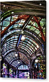 The Pergola Ceiling In Pioneer Square Acrylic Print by David Patterson