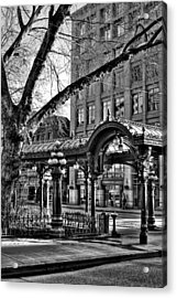 The Pergola In Pioneer Square IIi - Seattle Washington Acrylic Print by David Patterson