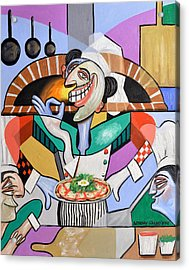 The Personal Size Gourmet Pizza Acrylic Print by Anthony Falbo