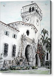 The Perspective Of The Building Acrylic Print by Danuta Bennett