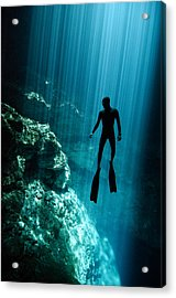 The Phantom Acrylic Print by One ocean One breath