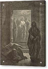 The Pharisee And The Publican Acrylic Print by Antique Engravings