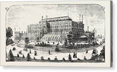 The Philadelphia Exhibition, The Horticultural Buiding Acrylic Print by American School