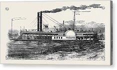 The Philadelphia Mississippi Steamer Acrylic Print by English School