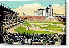The Phillies Baker Bowl In Philadelphia Pa In 1914 Acrylic Print by Dwight Goss