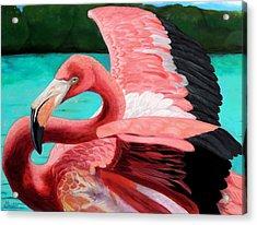 The Phoenix Acrylic Print by Maritza Tynes