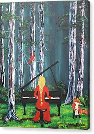 The Pianist In The Woods Acrylic Print