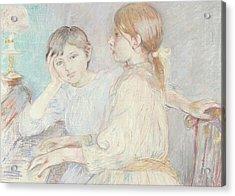 The Piano Acrylic Print by Berthe Morisot